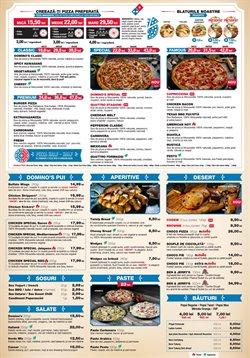 Oferte Restaurante în catalogul Domino's Pizza din Bucareșt ( Peste 30 de zile )