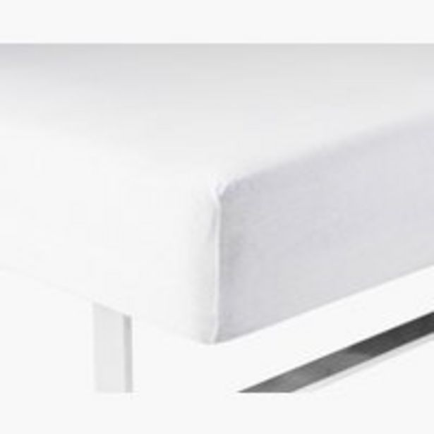 Ofertă Cearșaf tricot 90x200x40cm alb 69,99 lei