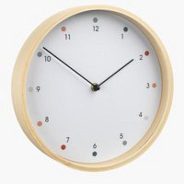 Ofertă Ceas de perete HERMAN 26cm alb 50 lei