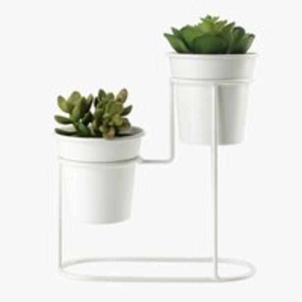 Ofertă Piedestal HOLME alb cu plante artif. 59,99 lei
