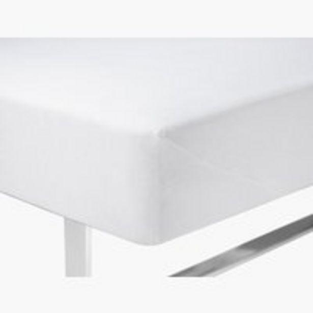 Ofertă Cearșaf plușat 90x200x40cm alb 30 lei