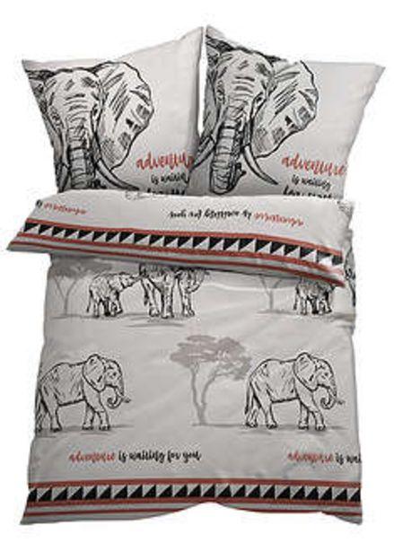 Ofertă Lenjerie pat cu elefanţi 49,9 lei