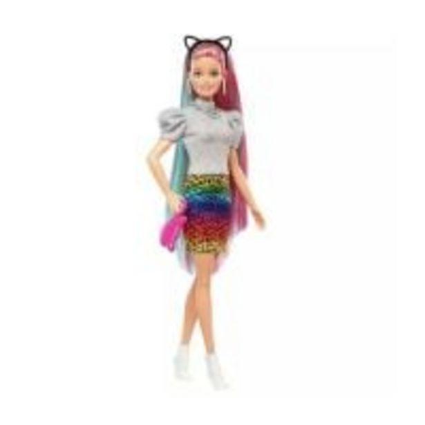 Ofertă Papusa Barbie Leopard cu par curcubeu 126,99 lei