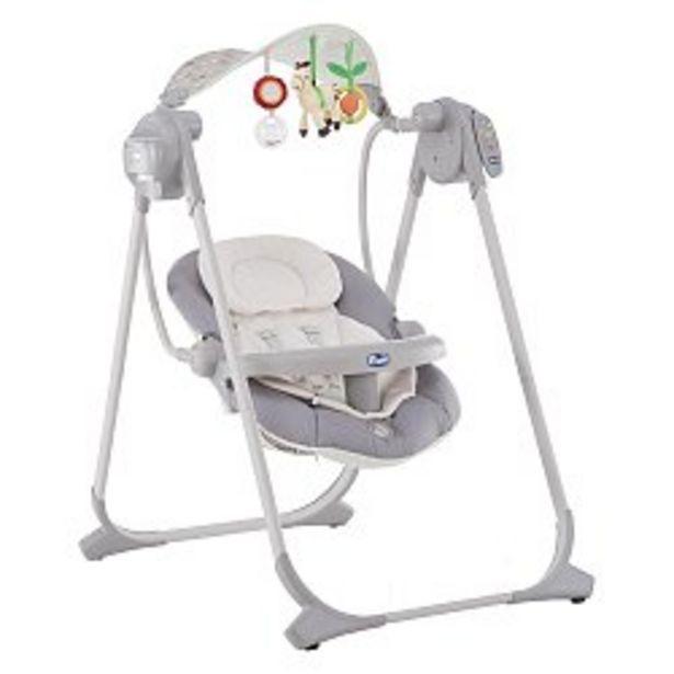 Ofertă Balansoar cu vibratii pentru bebelusi 0luni+ Chicco Polly Swing Up, Silver  1149 lei