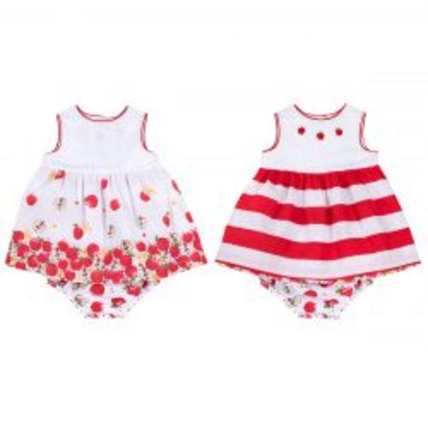 Ofertă Costum copii Chicco, rochita reversibila cu chilotei, alb cu rosu, 03607 119,95 lei