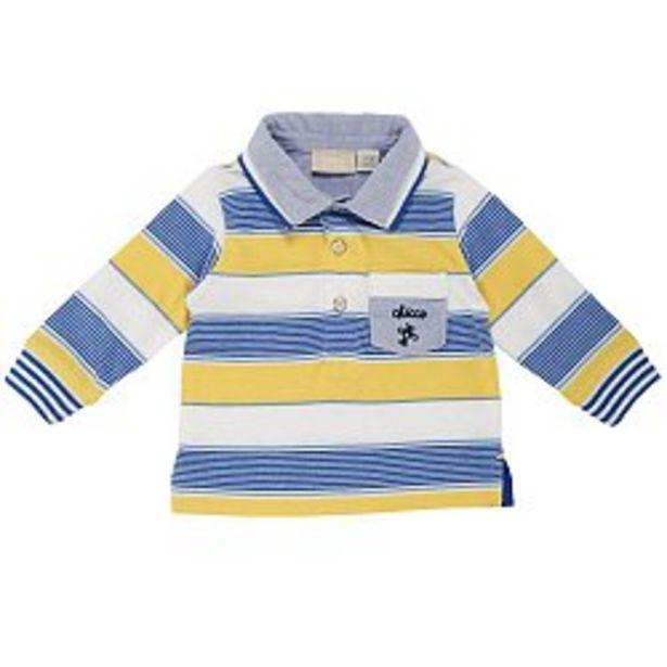 Ofertă Tricou polo copii Chicco, maneca lunga, galben cu alb si bleu 79,95 lei