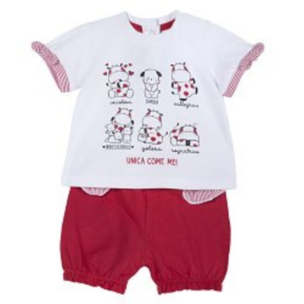 Ofertă Set tricou si pantalon jerse copii Chicco, rosu cu alb, 77850 64,95 lei
