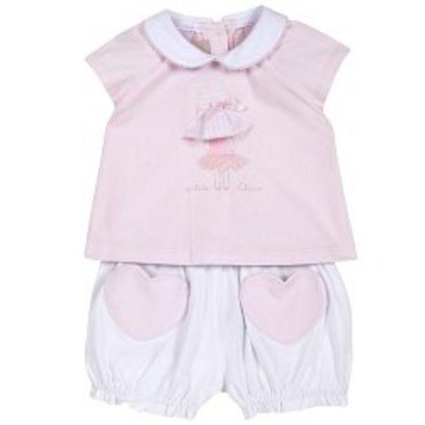 Ofertă Salopeta bebe Chicco cu botosei, alb cu roz, 76427 89,95 lei