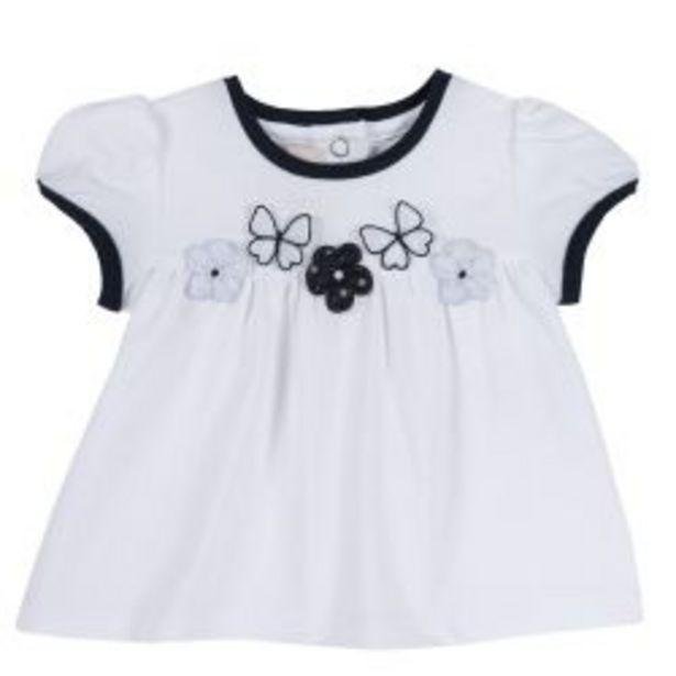 Ofertă Tricou copii Chicco, maneca scurta, alb cu bleumarin, 06573 64,95 lei