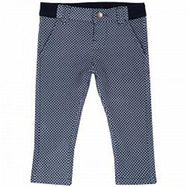 Ofertă Pantalon lung copii stretch, alb cu bleumarin, 08139 74,95 lei