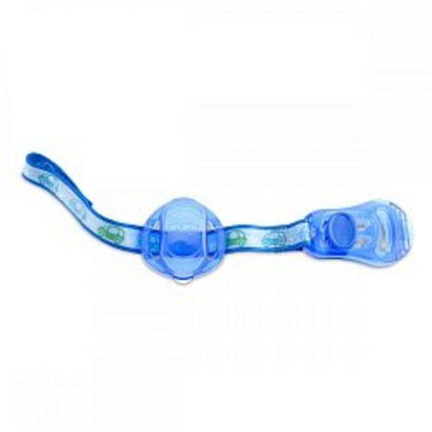 Ofertă Lantisor Chicco cu capac de protectie pentru suzeta, 0luni+, Blue 34 lei