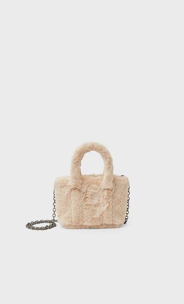 Ofertă Geantă shopper mini cu blană 59,9 lei