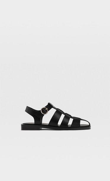 Ofertă Sandale fără toc cu barete negre 149,9 lei