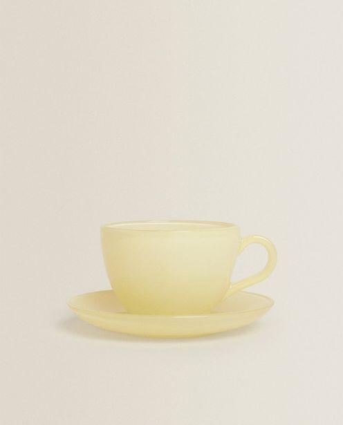 Ofertă Ceașcă De Cafea Cu Farfurie Din Sticlă Pastel 29,9 lei