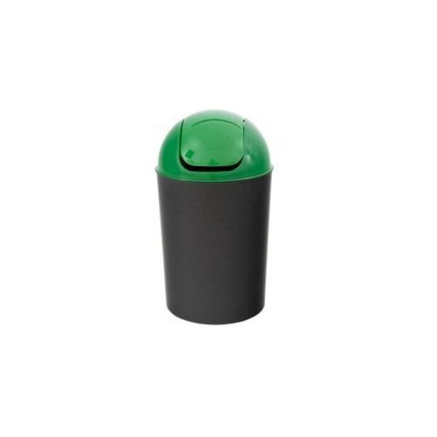 Ofertă Cos de gunoi Flap Delta, din plastic, deschidere batanta, 12 L, verde 15,8 lei