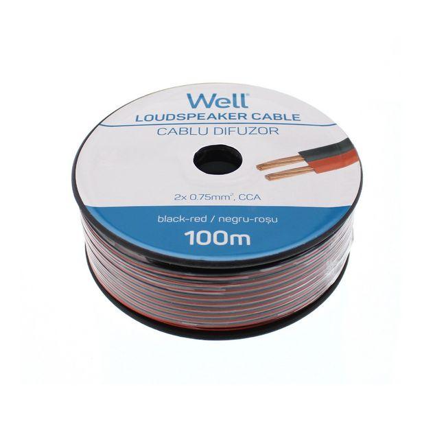 Ofertă Cablu audio HI FI 2 x 0.75 mm², negru/rosu, la metru 0,99 lei