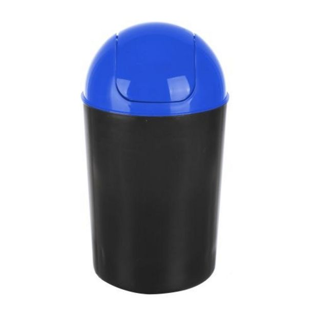 Ofertă Cos de gunoi Flap Delta, din plastic, deschidere batanta, 12 L, albastru 15,8 lei
