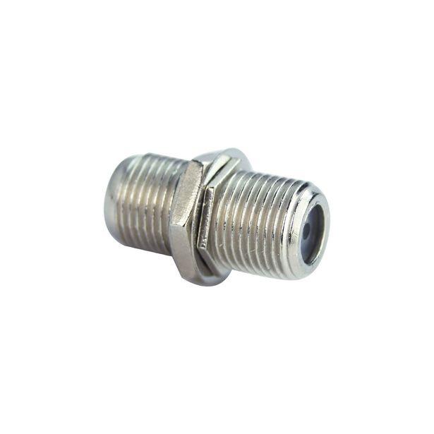 Ofertă Adaptor cablu TV Evology, coaxial, tip F, mama-mama, metal, argintiu 1,99 lei