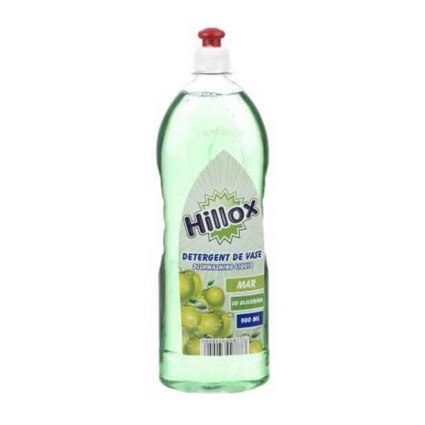 Ofertă Detergent pentru vase, Hillox, 0.9 L, parfum de mar 4,8 lei