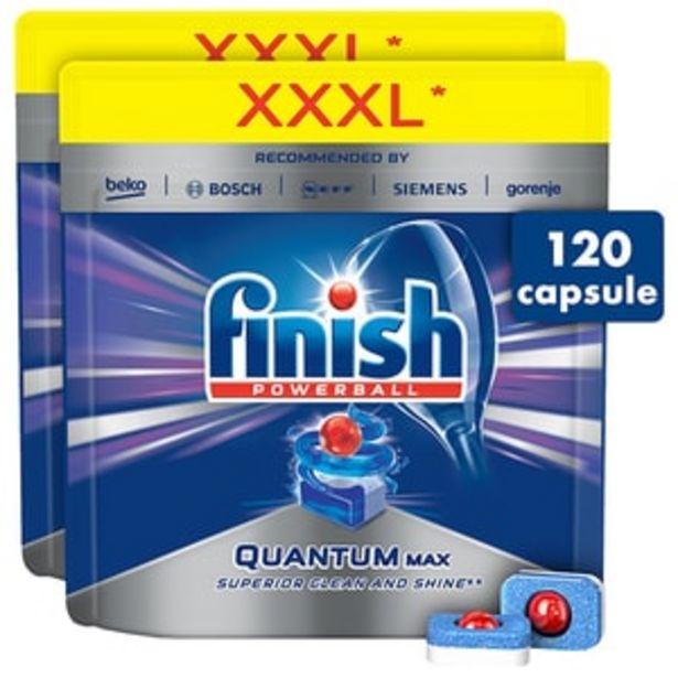 Ofertă Pachet detergent pentru masina de spalat vase FINISH Quantum Max, 120 tablete 109,43 lei
