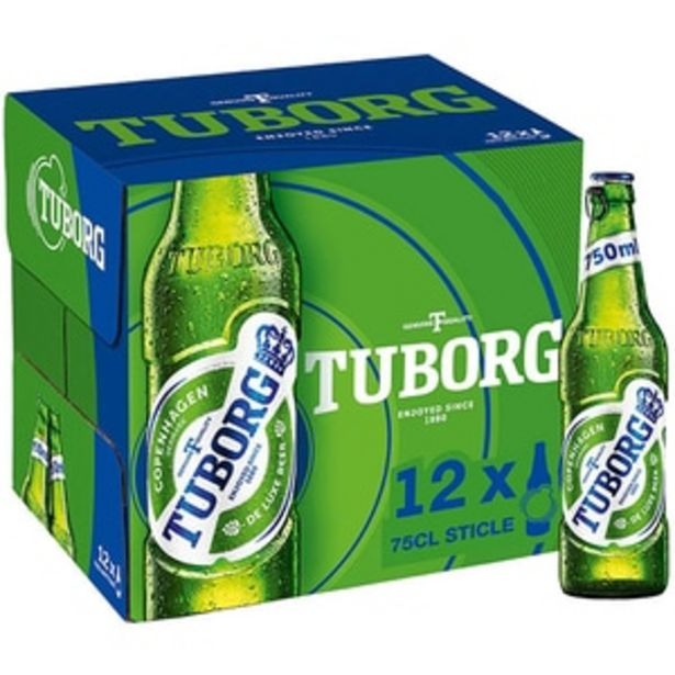 Ofertă Bere blonda Tuborg bax 0.75L x 12 sticle 65,68 lei