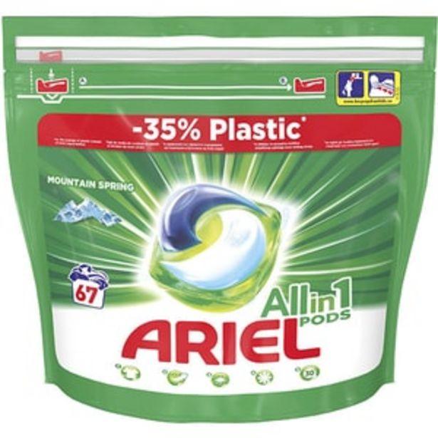 Ofertă Detergent capsule ARIEL All in One PODS Mountain Spring, 67 spalari 64,95 lei