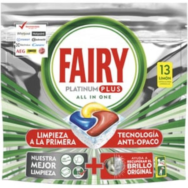 Ofertă Detergent pentru masina de spalat vase FAIRY Platinum Plus, 13 capsule 14,95 lei