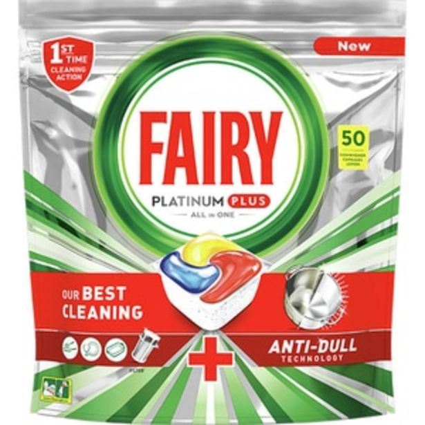 Ofertă Detergent pentru masina de spalat vase FAIRY Platinum Plus, 50 capsule 59,79 lei