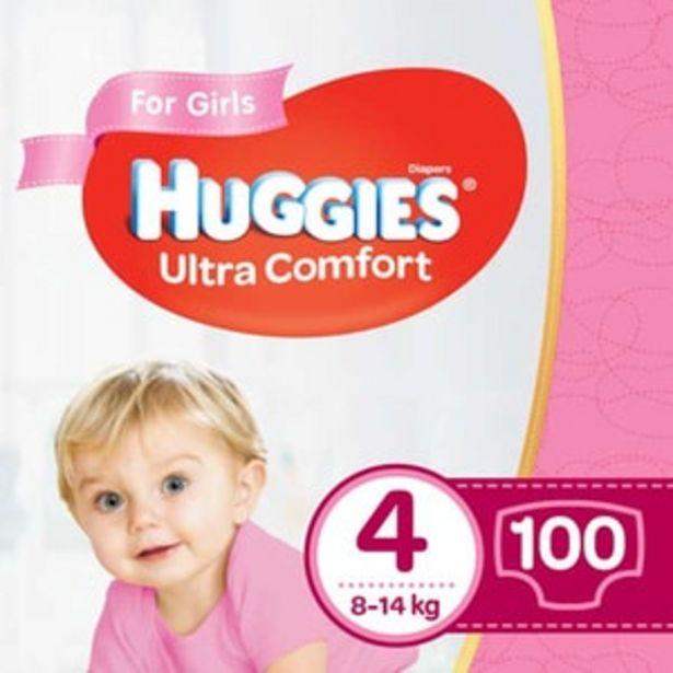 Ofertă Scutece HUGGIES Ultra Comfort Box nr 4, Fata, 8-14 kg, 100 buc 91,67 lei
