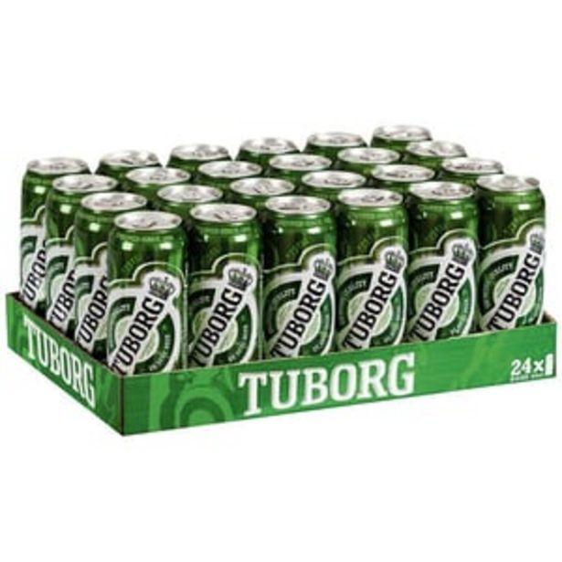 Ofertă Bere blonda Tuborg bax 0.5L x 24 doze 84,99 lei