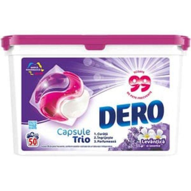 Ofertă Detergent rufe DERO Trio Caps Lavanda, 50 spalari 40,76 lei