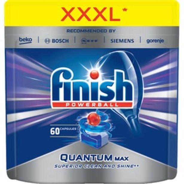 Ofertă Detergent vase pentru masina de spalat vase FINISH Quantum Max, 60 bucati 61,13 lei