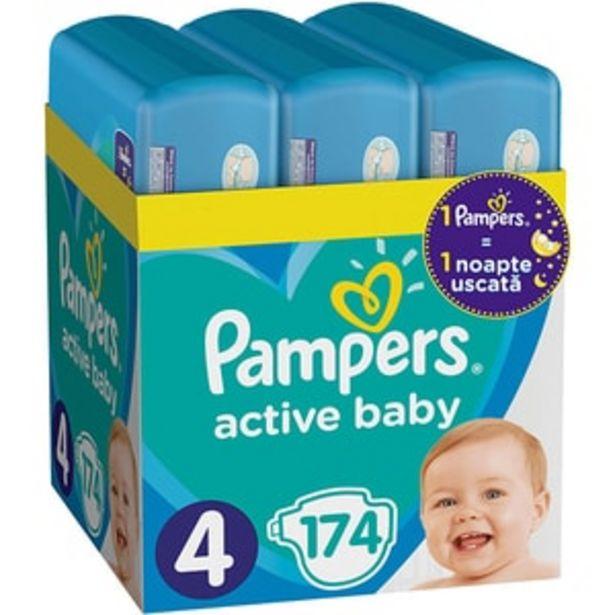 Ofertă Scutece PAMPERS Active Baby XXL Box nr 4, Unisex, 9-14 kg, 174 buc 160,85 lei