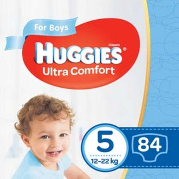 Ofertă Scutece HUGGIES Ultra Comfort Box nr 5, Baiat, 12-22 kg, 84 buc 91,67 lei