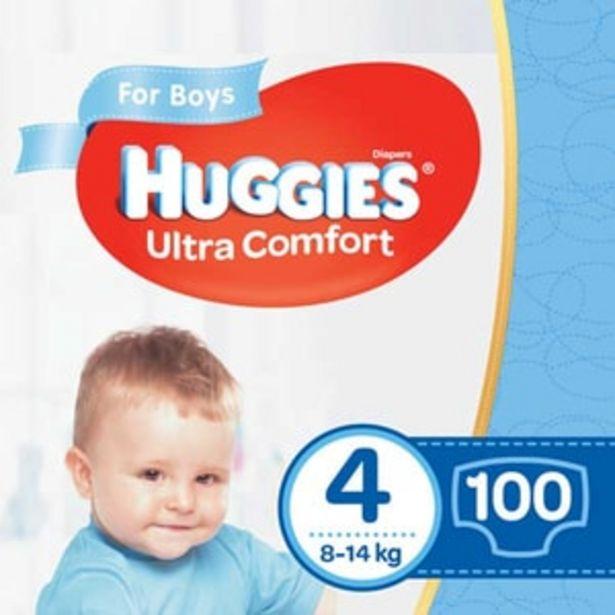 Ofertă Scutece HUGGIES Ultra Comfort Box nr 4, Baiat, 8-14 kg, 100 buc 91,67 lei