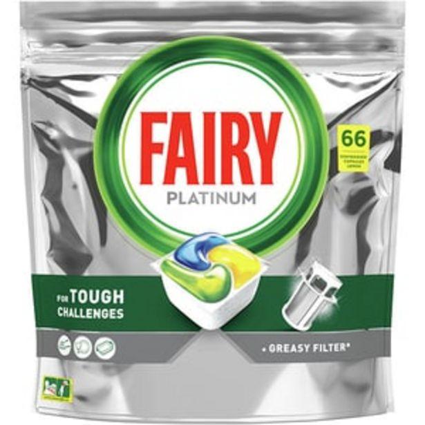 Ofertă Detergent pentru masina de spalat vase Fairy Platinum, 66 capsule 59,84 lei