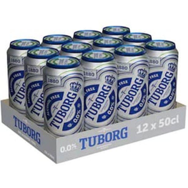 Ofertă Bere blonda fara alcool Tuborg bax 0.5L x 12 doze 49,99 lei
